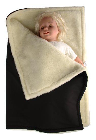 Kaarsgaren zimní deka černá merino softshell