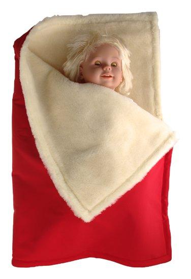 Kaarsgaren zimní deka červená merino softshell